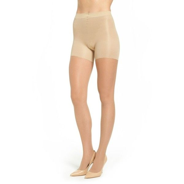 Nude support pantyhose in larger sizes