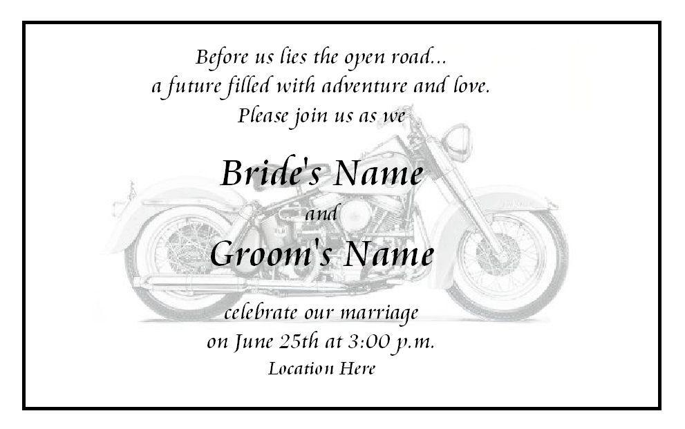 Biker Wedding Invitations: Motorcycle Themed Wedding Invitations'