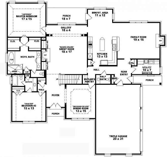 653736 two story 4 bedroom 3 5 bath french traditional for Traditional house plans two story