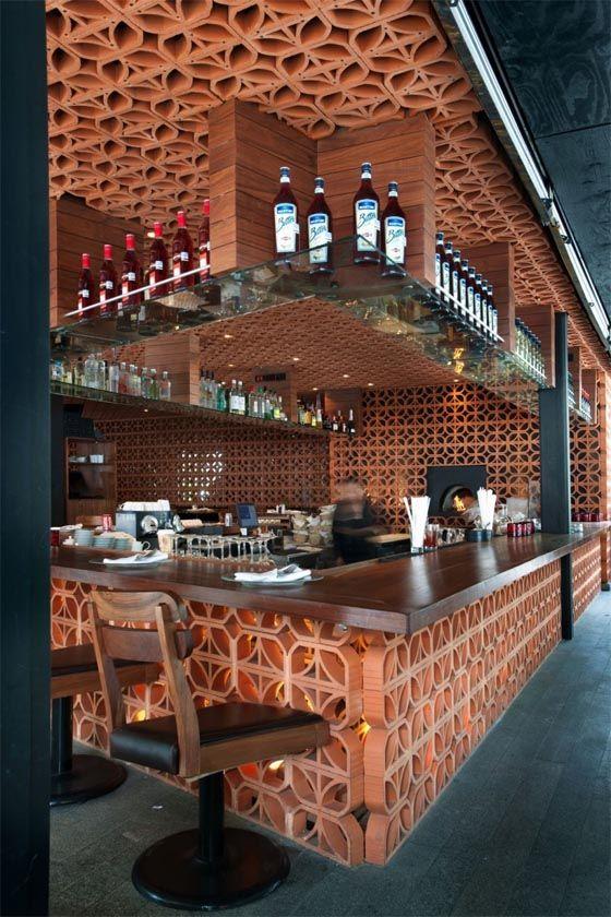 La Nonna Restaurant Interior Design by CheremSerrano. Celocia de barro modelo…