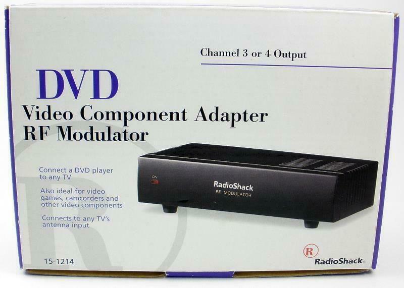 Radio Shack Dvd Video Component Adapter Rf Modulator Channel 3 Or 4 Output New Radioshack Modulators Tv Antenna Dvd