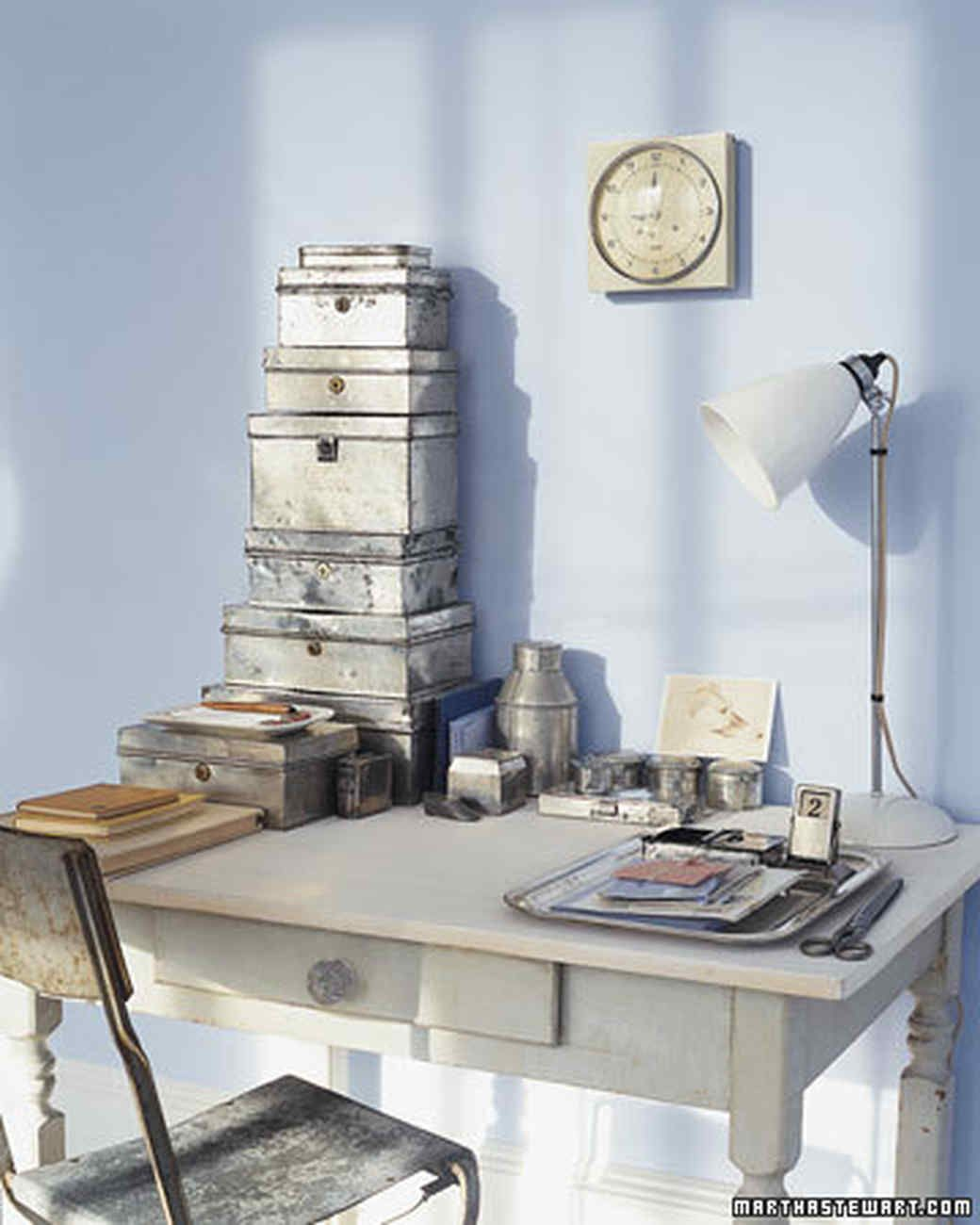 Stripped Tin Boxes # Muebles Hojalata