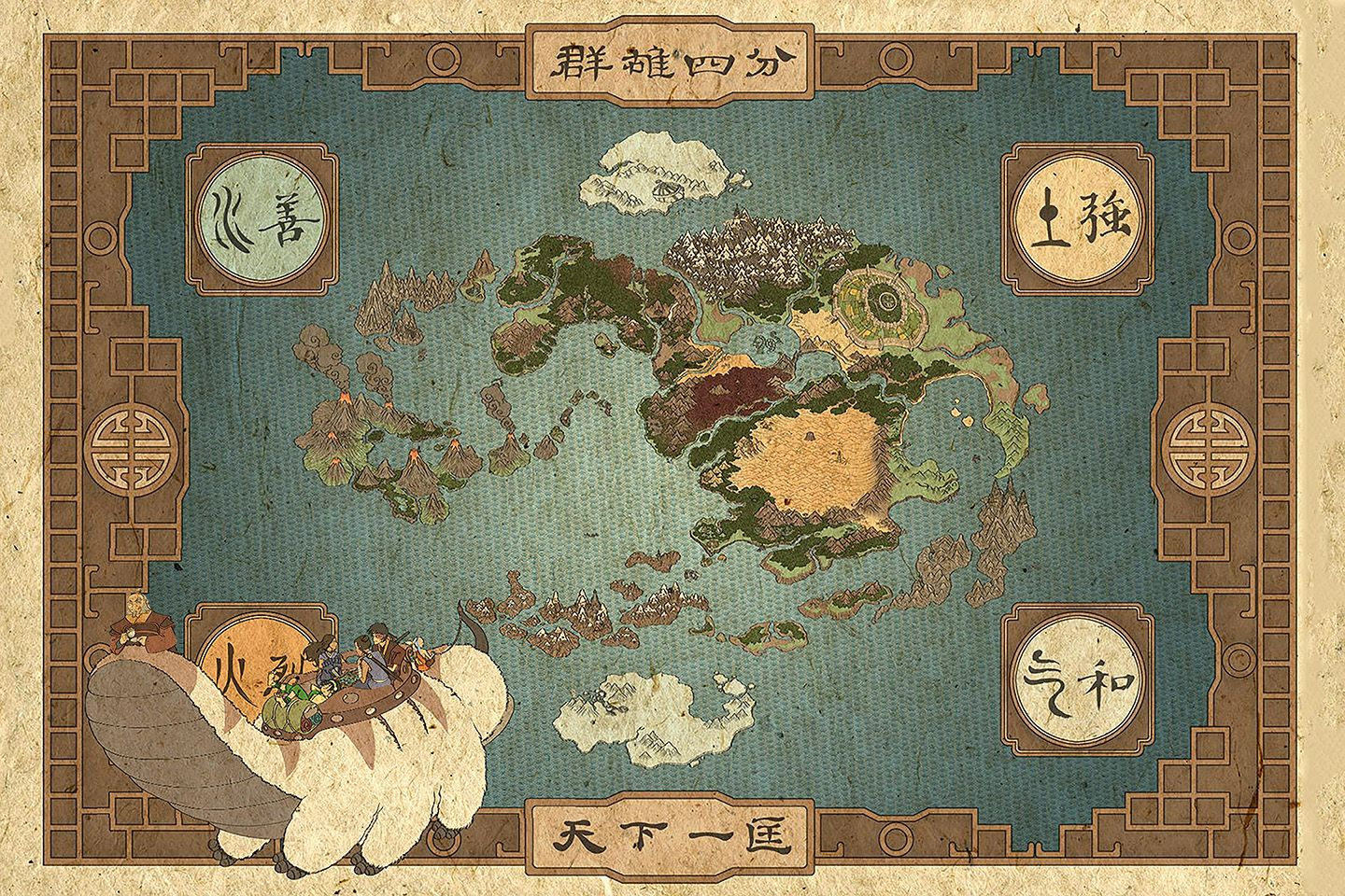 Avatar The Last Airbender Map Avatar The Legend Of Aang Etsy In 2021 Avatar Poster Avatar World Avatar The Last Airbender