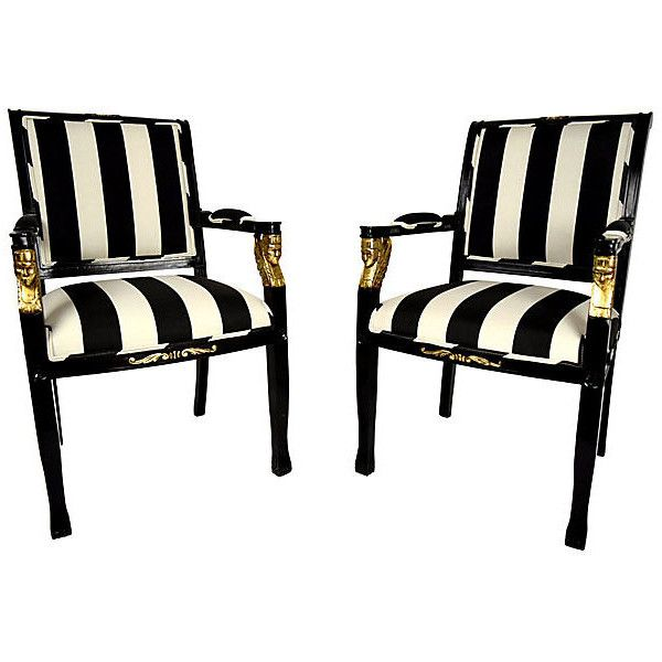 Pre Owned 1950s Empire Style Armchairs Pair 2 975 Liked On