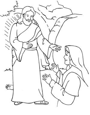 Jesus Resurrection Coloring Pages Sketch Template