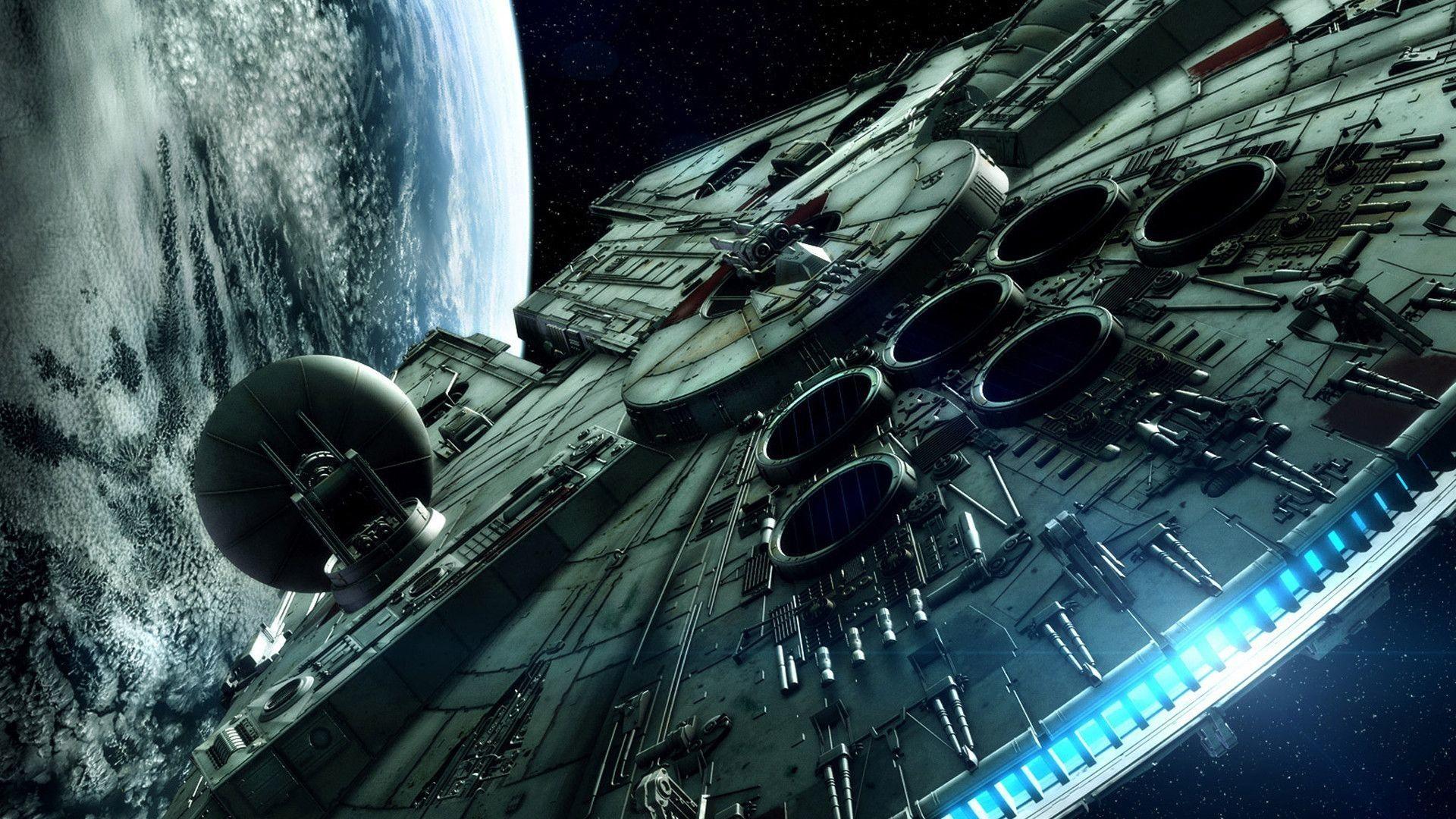 fondos de pantalla star wars halcon milenario