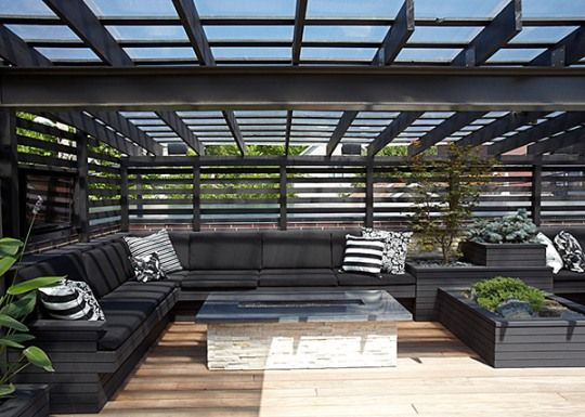 Rooftop terrace and pergola OUTDOORS GREAT Pinterest Terrazas - techos para terrazas