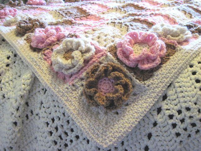 Gorgeous crochet blanket - Neopolitan Baby Blanket