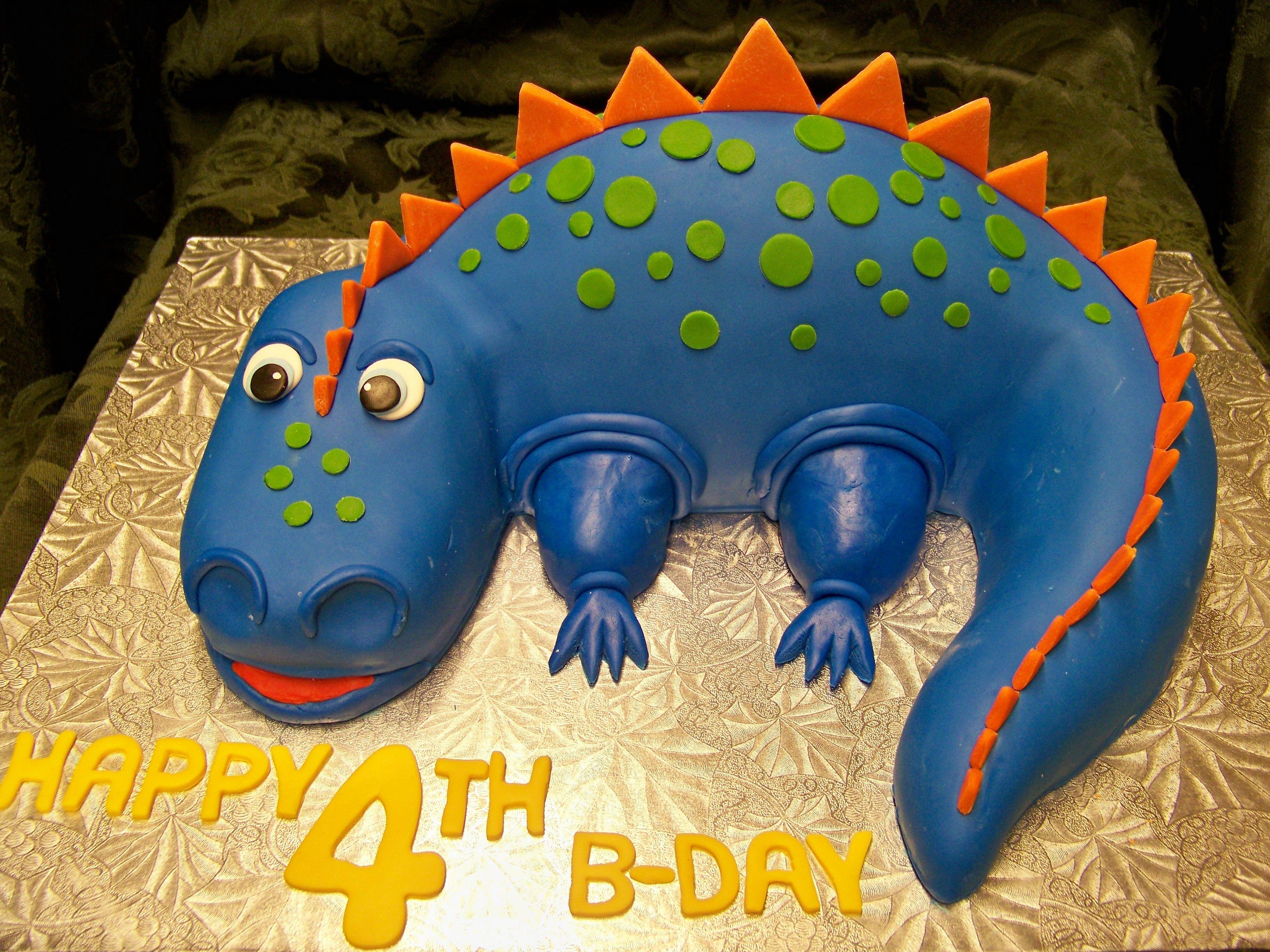 blue dinosaur cake Yes its cake Pinterest Dinosaur cake