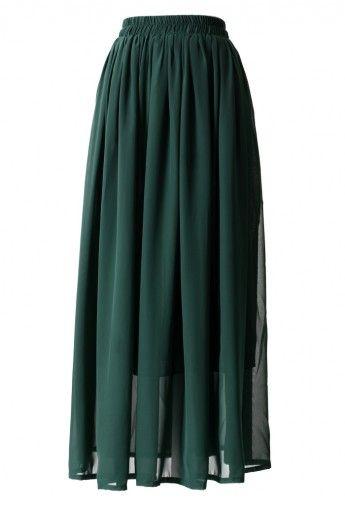 green pleat maxi.