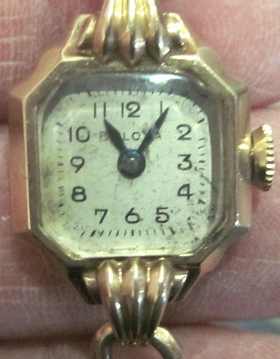 Ladies Vintage Bulova Wrist Watch 10k Gold Filled 12k Band Wrist Watch Old Watches Wrist