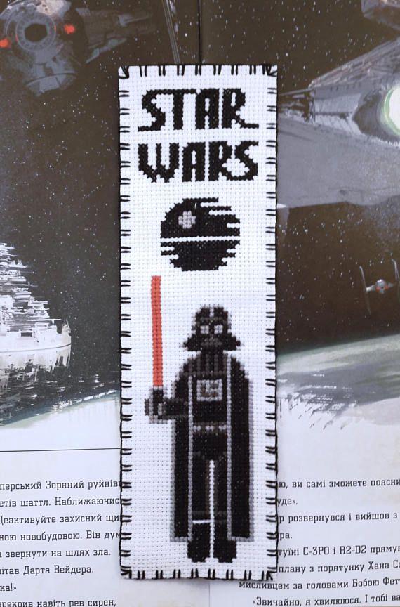 Star Wars Cross stitch bookmark pattern Star Wars: Darth ...
