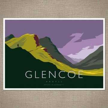 Peter McDermott's art reminds me of retro travel posters.