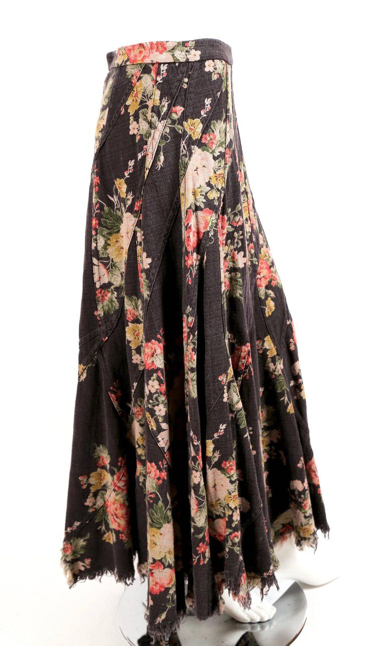 ccbacc3024 2002 Junya Watanabe Comme Des Garcons Floral Seamed Runway Skirt in ...