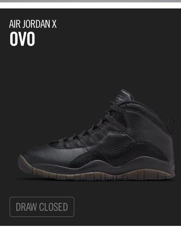 New Nike Air Jordan Retro 10 OVO size 12 Dead Stock Black