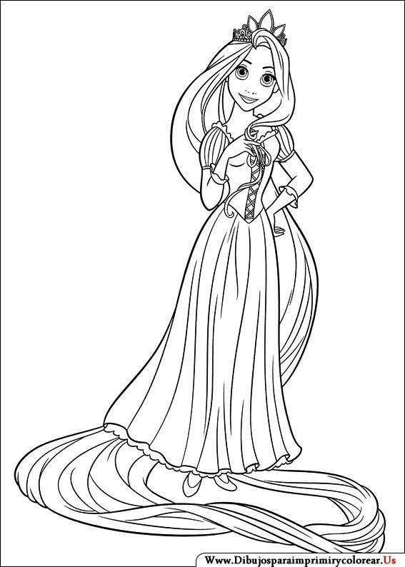 Dibujos De Enredados Para Imprimir Y Colorear Tangled Coloring Pages Disney Princess Coloring Pages Rapunzel Coloring Pages