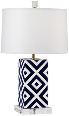 Mary McDonald Santorini Squares Robert Abbey Accent Lamp - Euro Style Lighting