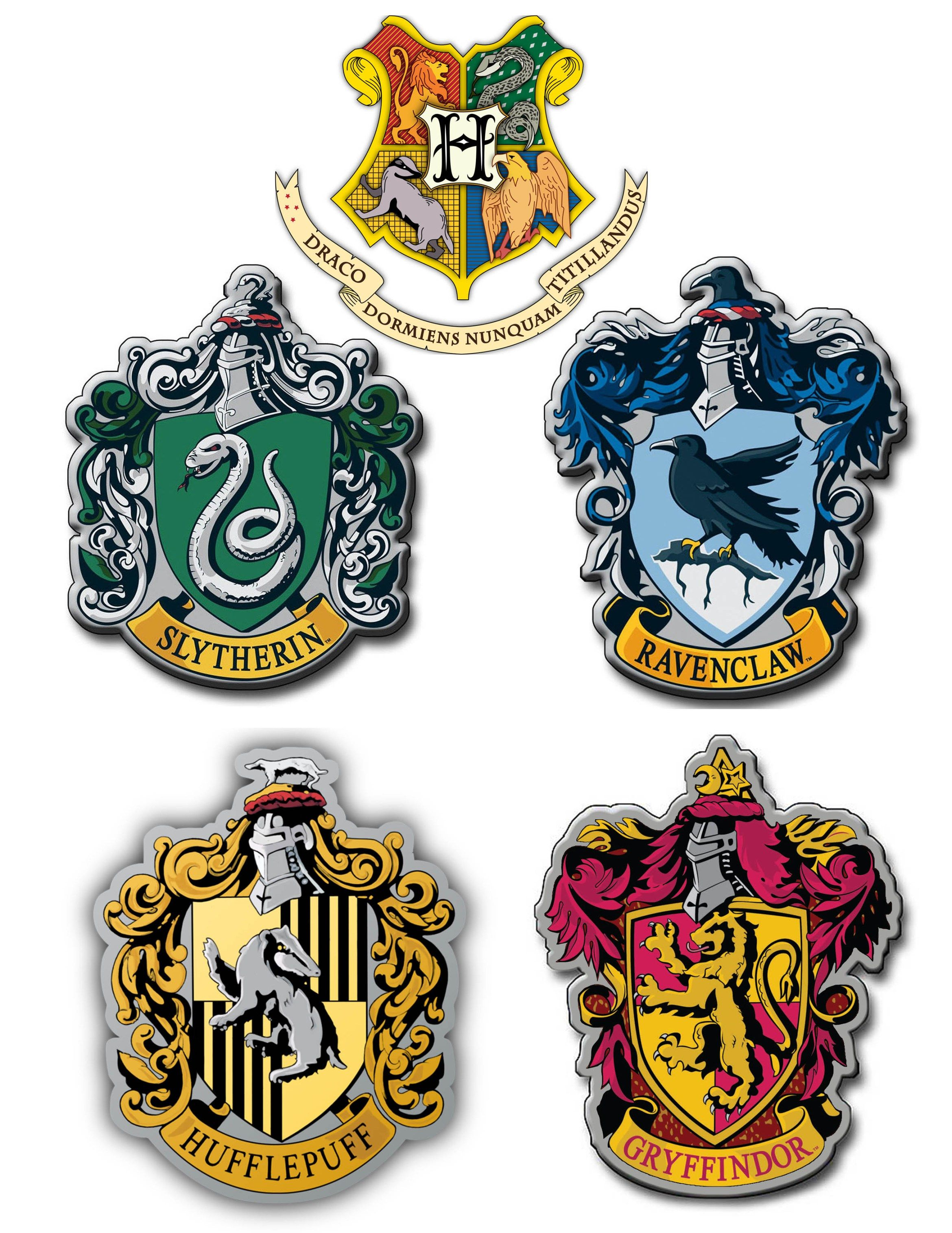 Printable Hogwarts House Crests Harry potter printables