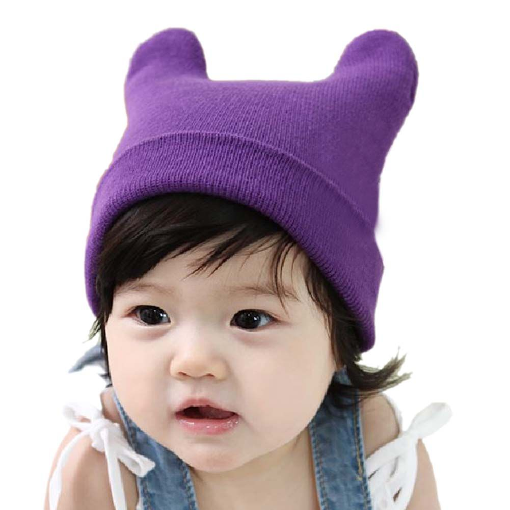 ddeb4f7498f TopTie Cute Baby Ox Horn Knit Beanie Hat Photo Prop