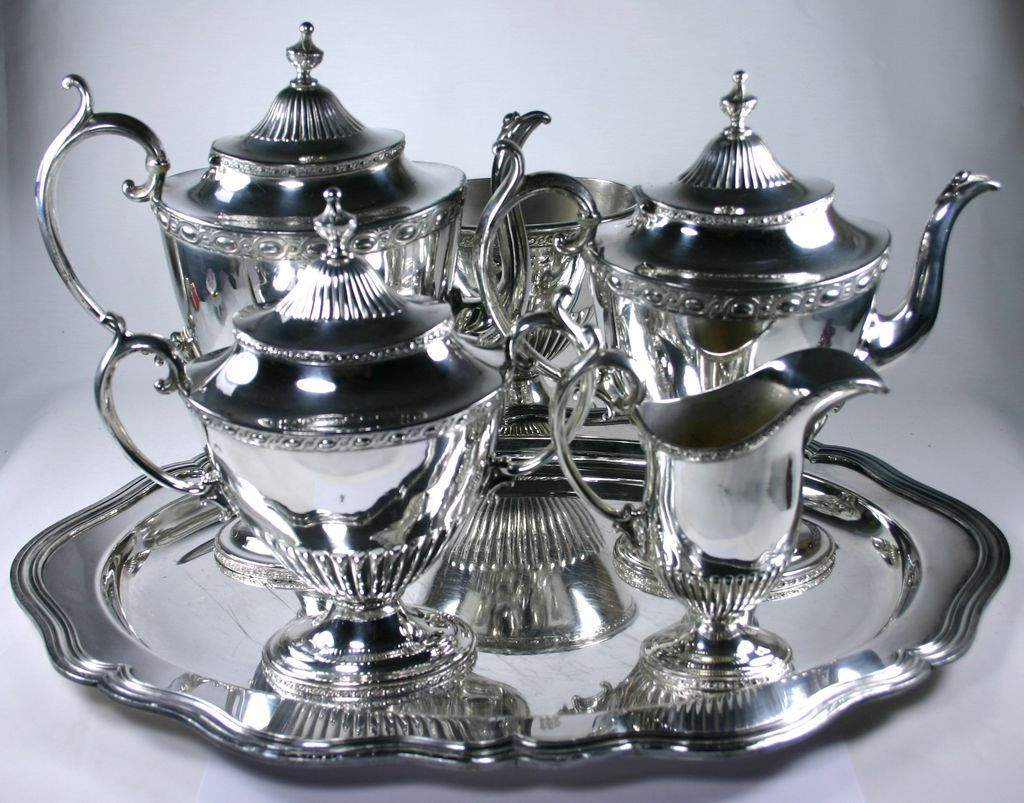 Fabulous Rogers Bros Silver Plate Coffee Set With Tray $425 or best offer. & Fabulous Rogers Bros Silver Plate Coffee Set With Tray $425 or best ...