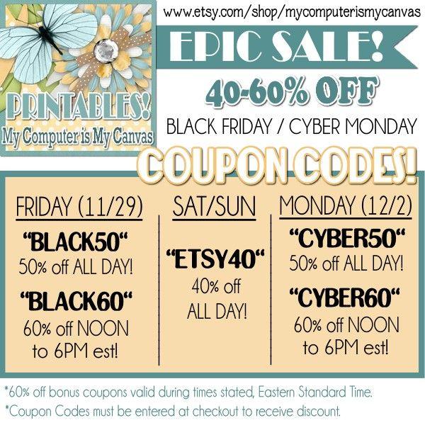 Huge Black Friday/Cyber Monday Weekend Sale!!