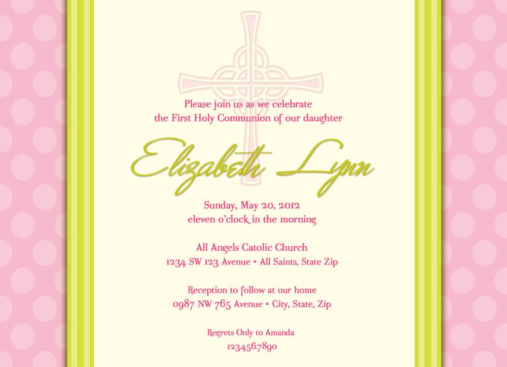 Girl S First Communion Invitations Communion Invitations First