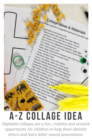 A-Z Letter Collage Printable | Developing Language and Literacy