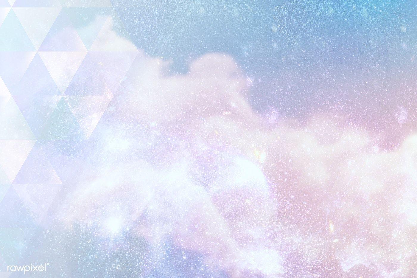 Download Premium Illustration Of Triangle Pattern On A Pastel Galaxy Pastel Galaxy Free Illustrations Illustration