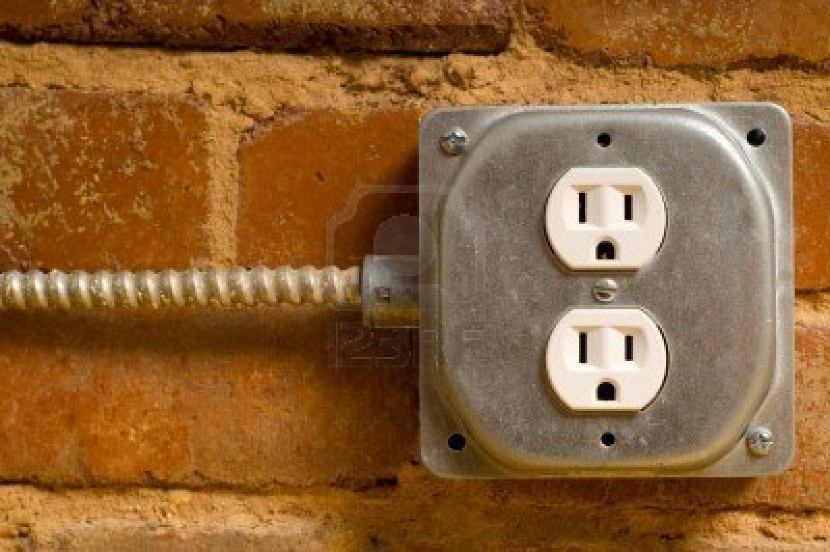medium resolution of industrial electrical outlet on a red brick wall concept of power or connectivity etc stock photo 3875046