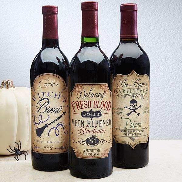 Personalized Wine Bottle Labels Vintage Halloween 14753 Halloween Wine Bottles Personalized Halloween Halloween Wine Bottle Labels