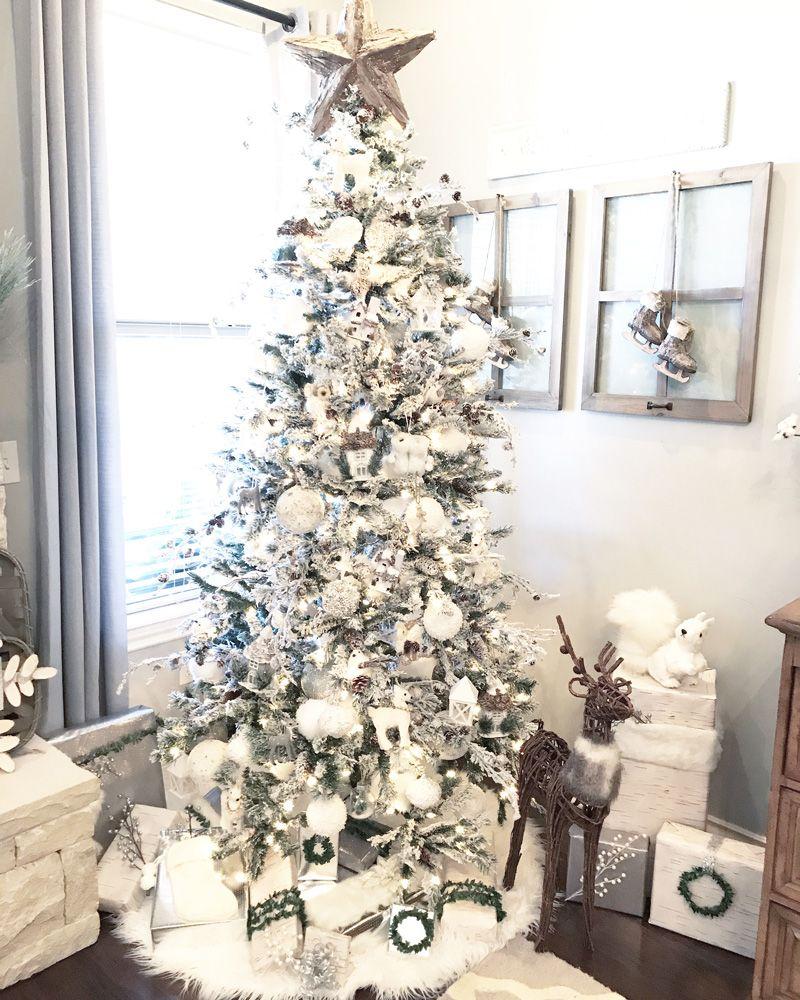Gorgoues Neutral Farmhouse Christmas Decor Tree Ideas Neutral Christmas Decor Farmhouse Christmas Decor Christmas Home