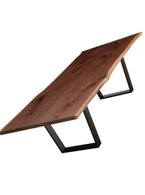 Design italiano tavolo in legno massello di castagno modello ...