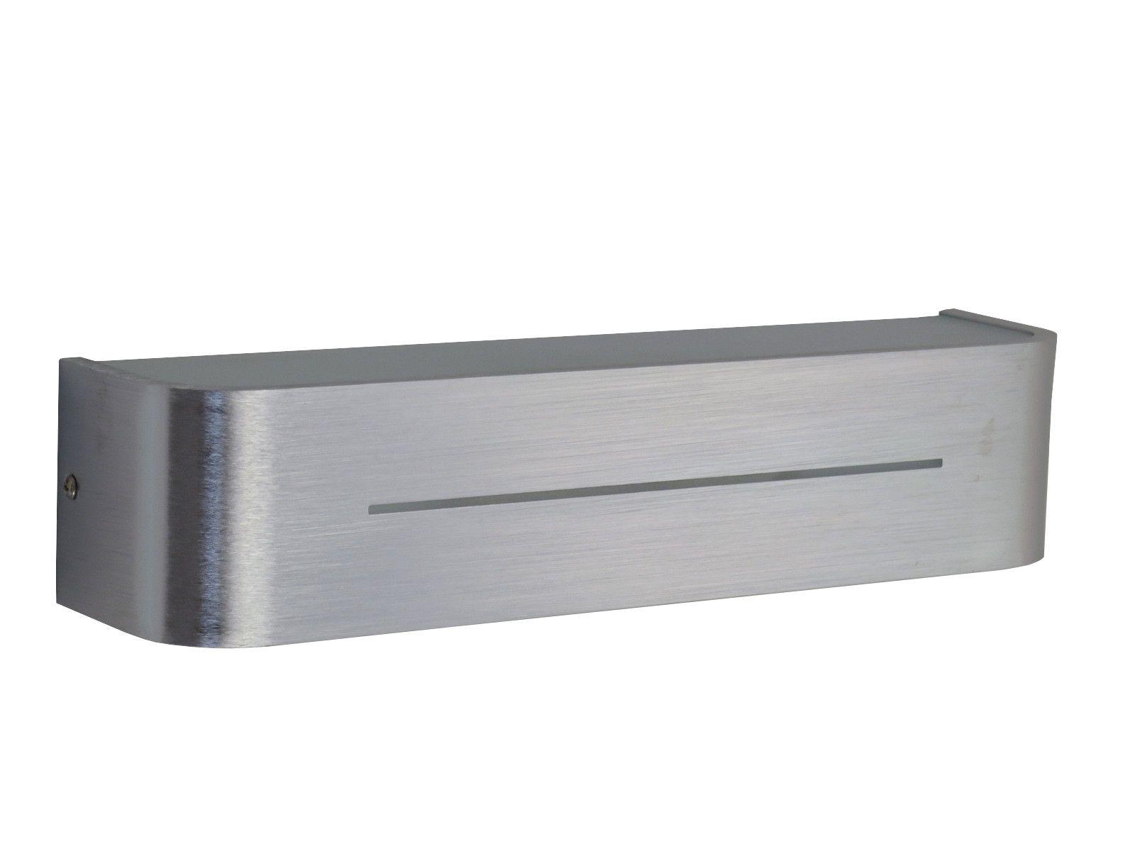 Applique moderno in alluminio 2 luci e14 max 40w cadauna