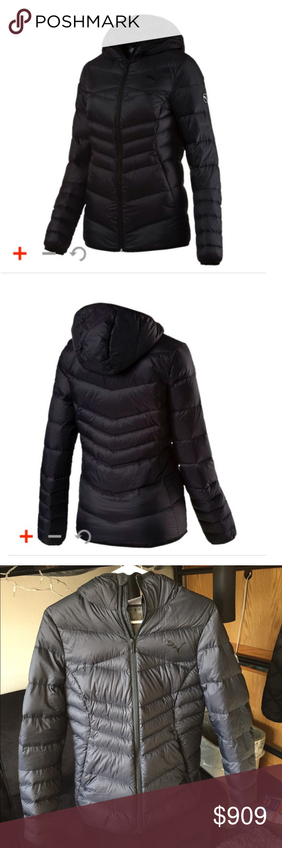 72e671094dea PUMA active 600 packLITE hooded down jacket Black down jacket from Puma.  Great for casual
