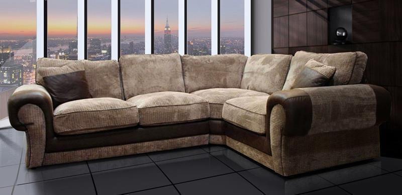 New Tango Fabric Beige Corner Sofa Brown Mocca Suite Tangent Jumbo Cord Corner Sofa Sofa Luxury Sofa
