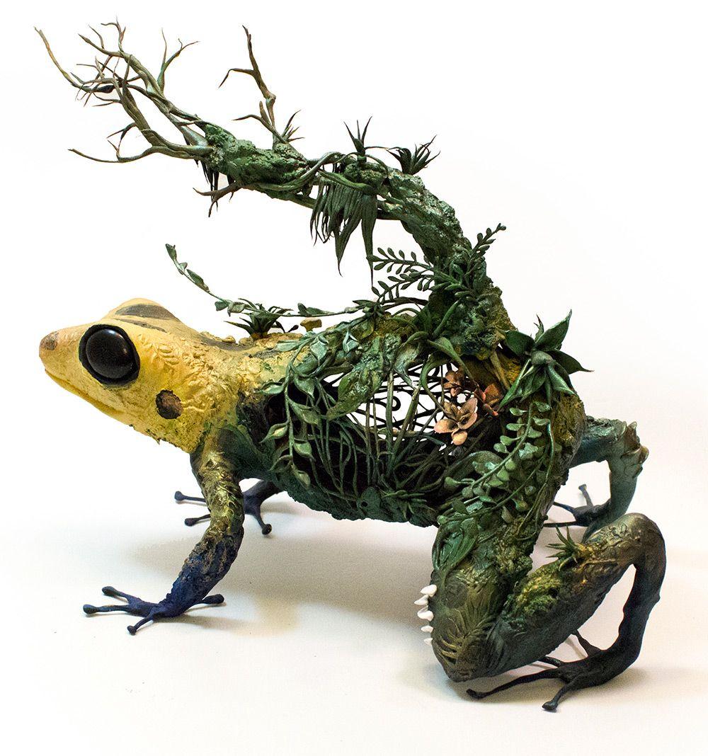 New Surrealist Sculptures By Ellen Jewett Effortlessly Combine - Surreal animal plant sculptures ellen jewett