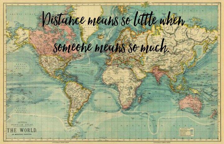 Distancia Distance Love Amor A Distancia Mapa Maps World Map