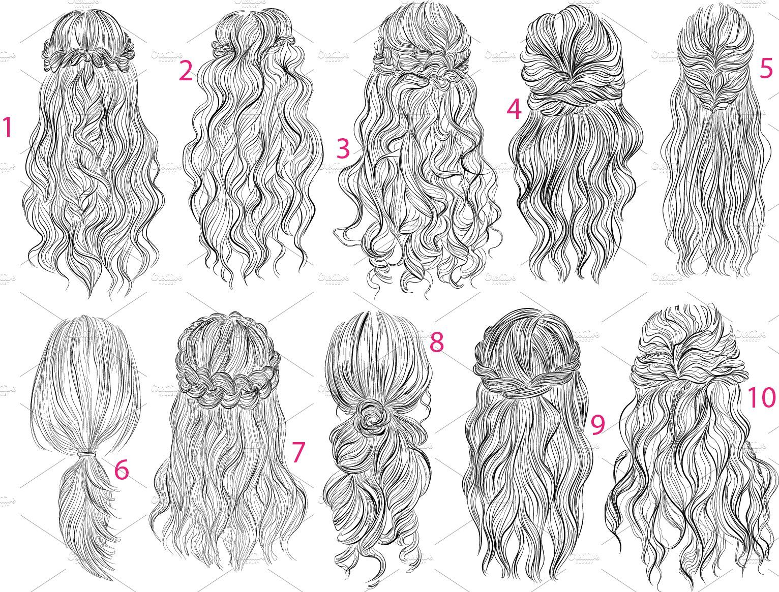 10 Long Romantic Hairstyles In 2020 Hair Sketch Anime Hair Hair Stylies