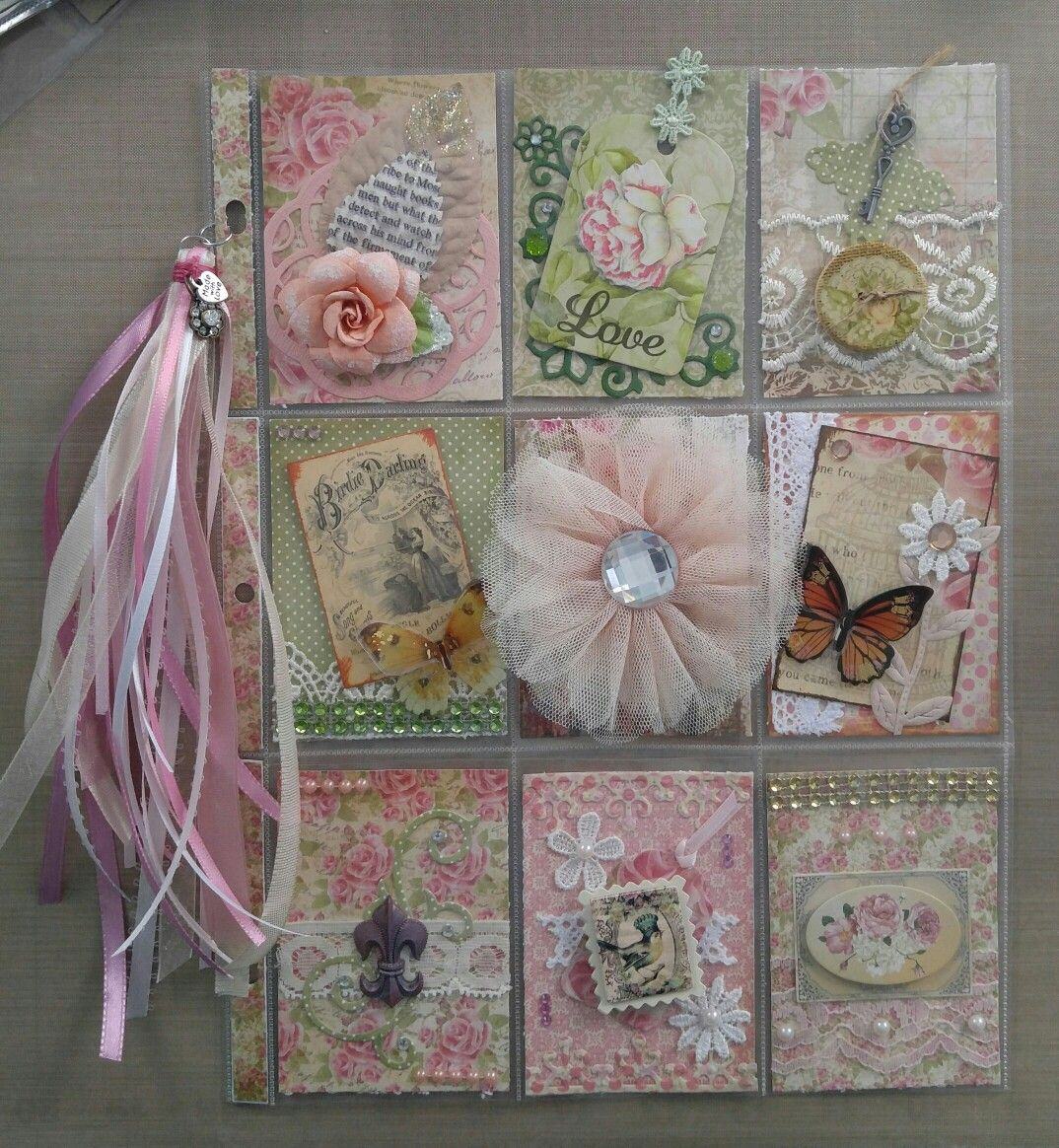 #31 Vinrage shabby pocket letter using Our Daily Bread paper, for Angela F. In GA.
