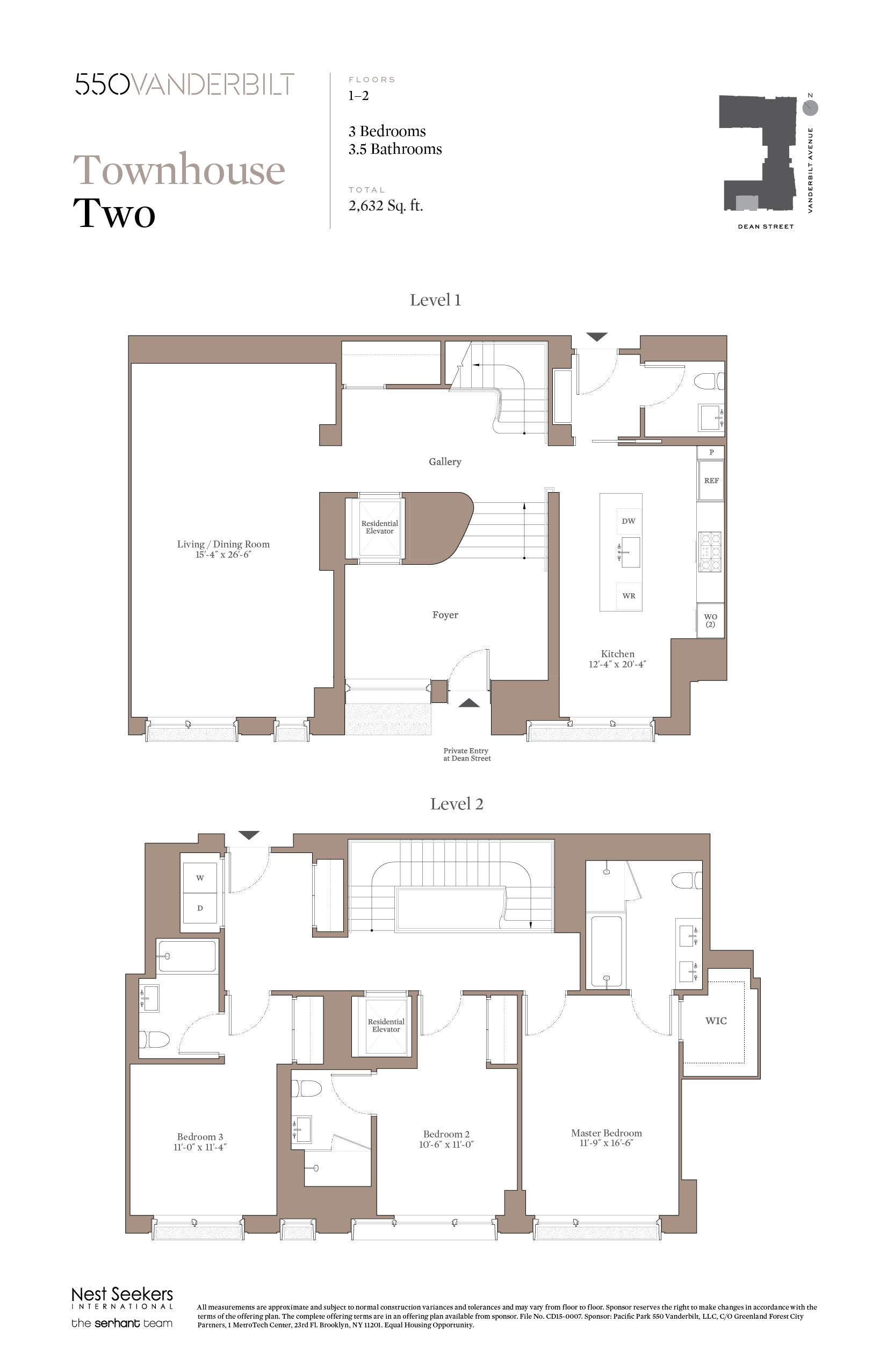 Re 550vanderbilt Townhouse Two Residential Building Plan City Living Apartment House Plans