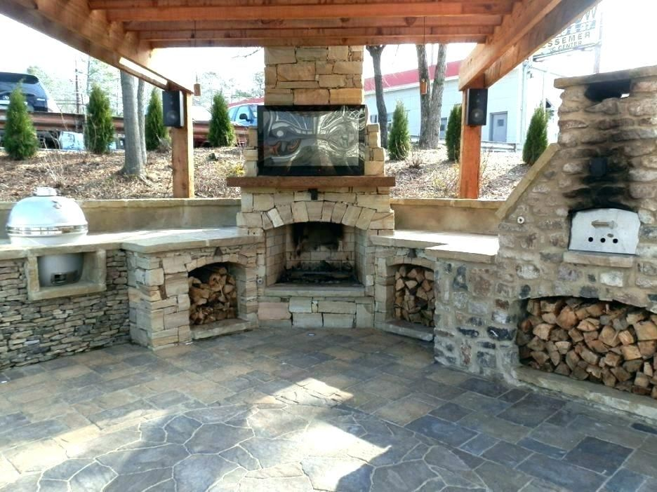 Image result for how to build an outdoor fireplace with cinder