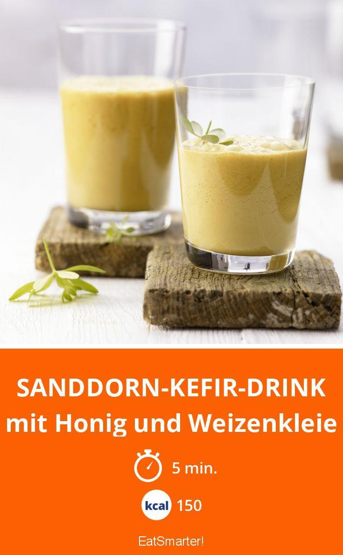 Sanddorn-Kefir-Drink   Rezept   Sanddorn, Honig und Abnehmen