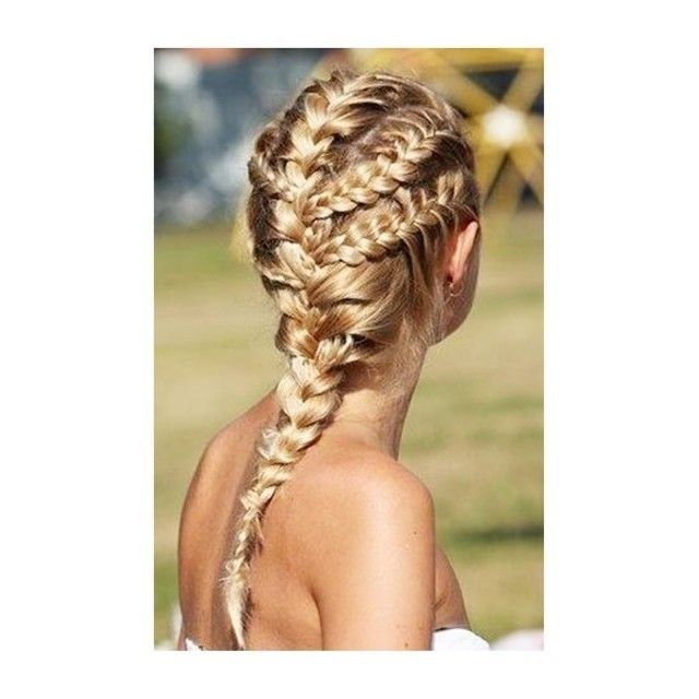 Multi Braid Blonde Hairstyle