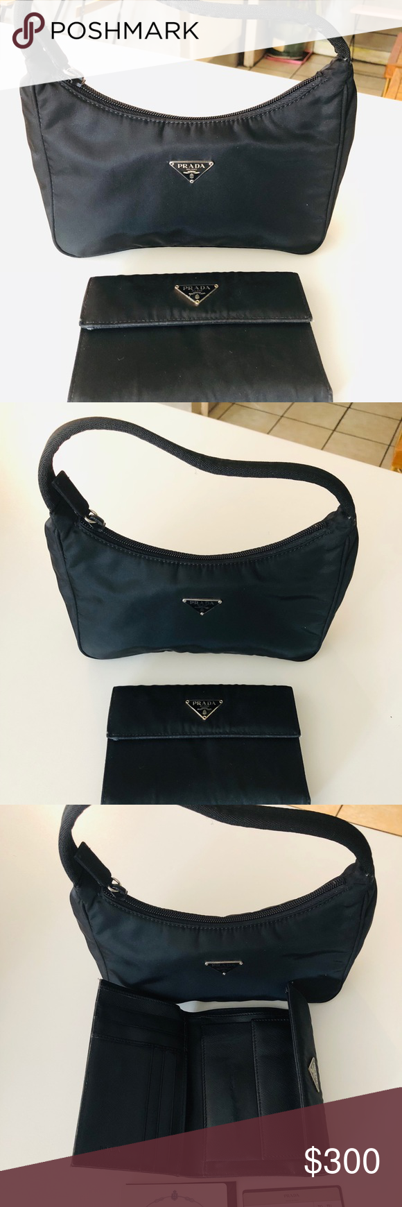 74b7a6c5d523 Authentic Prada pouch and wallet Original Prada pouch and wallet bundle!  Sign of usage but still in good condition. With serial number as well.