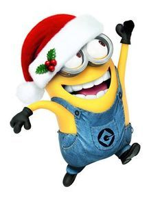 Image result for minion in a santa hat