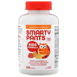 Smartypants تركيبة للأطفال فيتامينات متعددة وأوميجا 3 فراولة بالموز والبرتقال والليمون 120 علكة In 2020 Vitamins Gummy Vitamins Vitamins For Bones