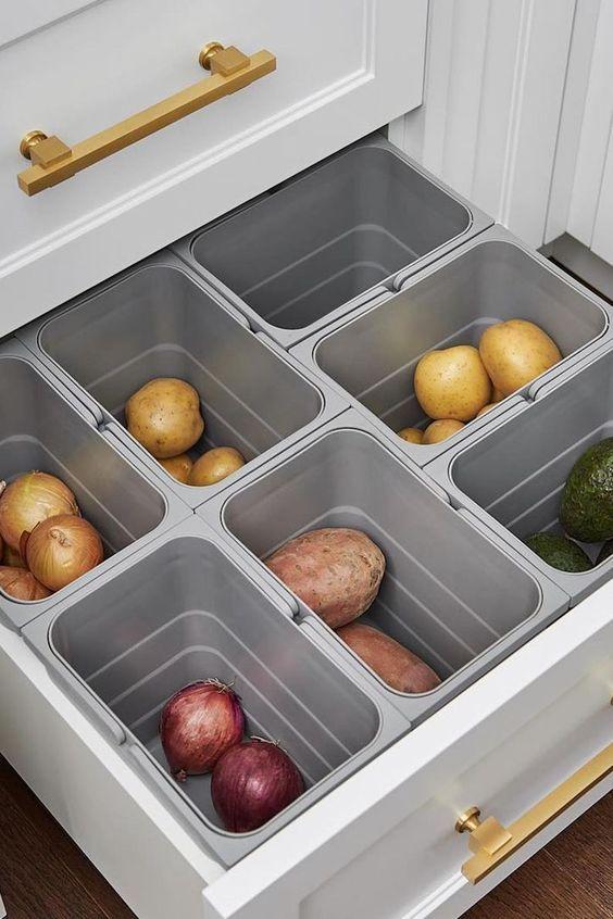 Photo of Kitchen Storage Drawer Organisation