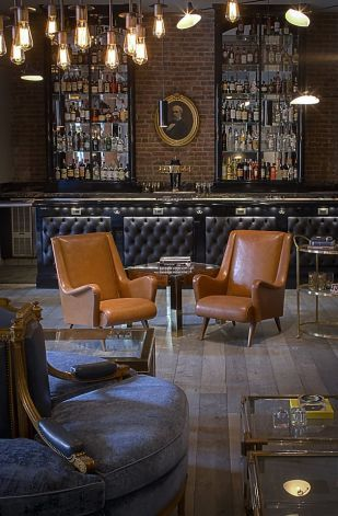 New Private S F Club The Battery Rustic Coffee Shop Antique Bar Bar Design