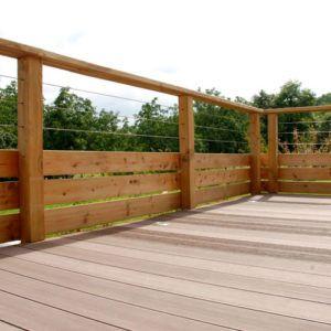 barriere de terrasse en bois barriere terrasse