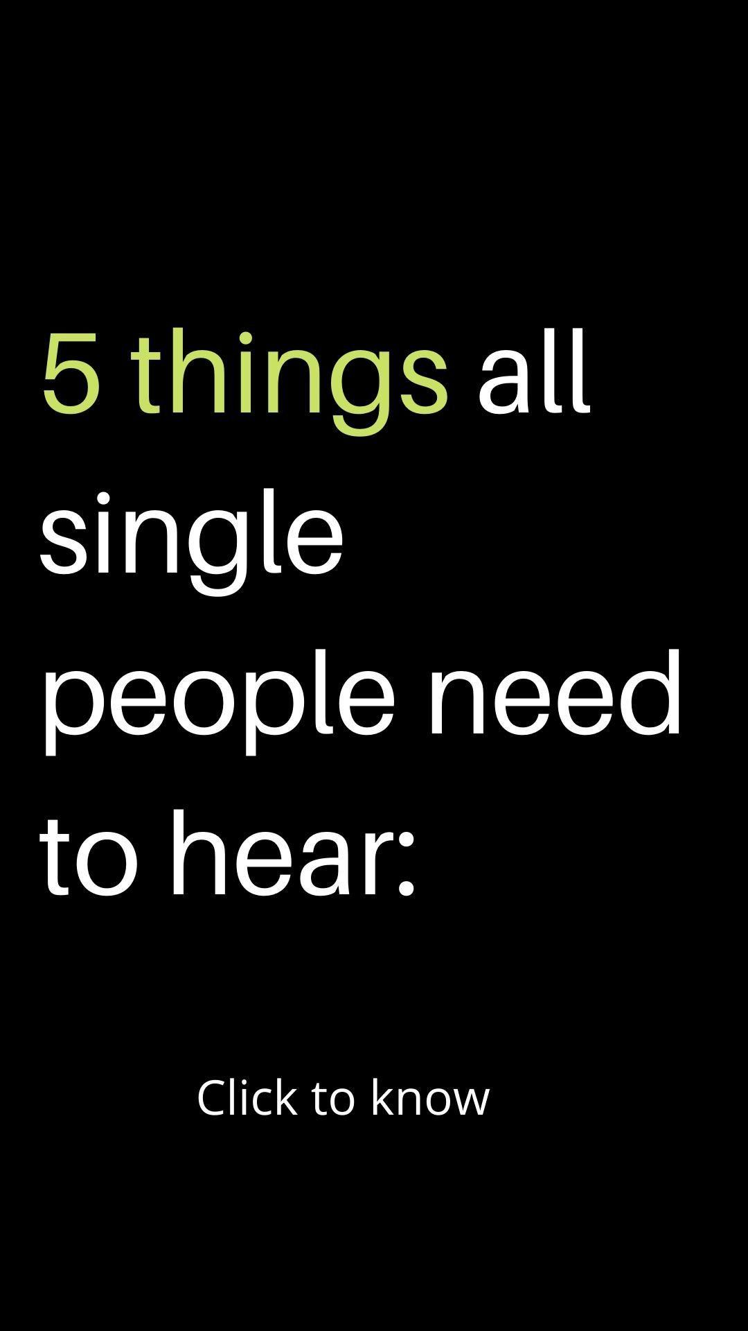 SINGLE PEOPLE